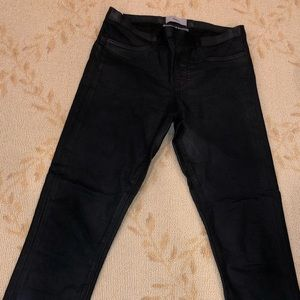Helmut Lang Black Jeggings Wax Material Size 26